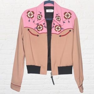 NEW Coach 1941 Western Embroidered Bomber Jacket